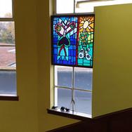 Commemorative stained glass panel, Prestonpans Infant School, East Lothian, 1999