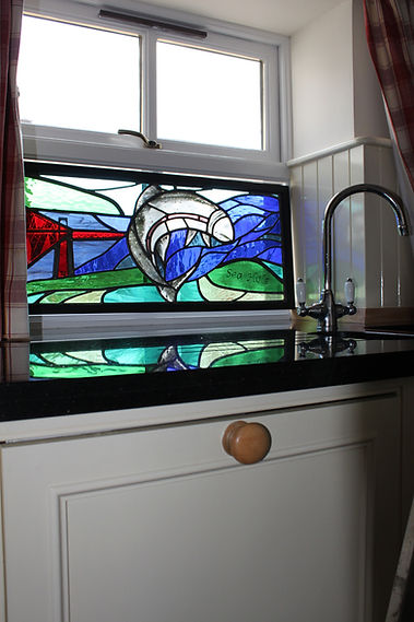 8. Stained glass panel inspired by leapi