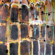 Winter Light, Chamber Street Museum, mixed media on paper, 63x50cm