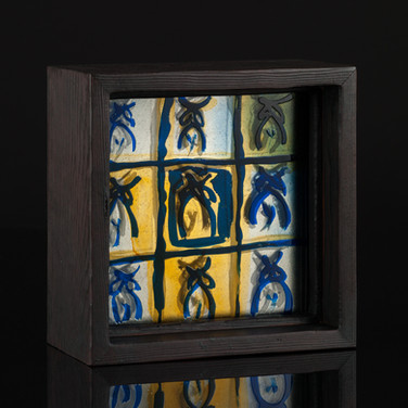 Summer Shadows III, etched, layered and painted stained glass, 2015 (image credit Gordon Bell)