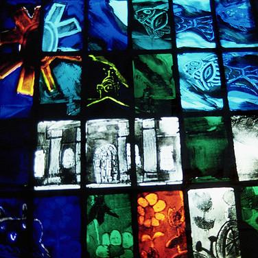 Millennium panel (detail), Longniddry Church, East Lothian, 2001