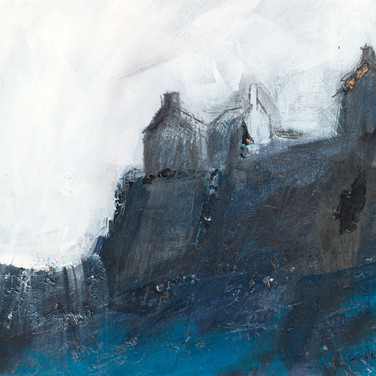 Castle Study IV, mixed media on paper, 24cm x 19cm