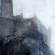 Castle study V, mixed media on paper, 20cm x 30cm