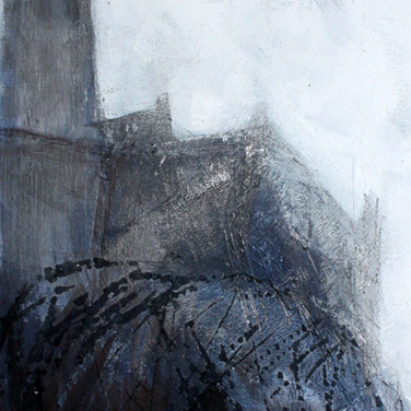 Castle study V, mixed media on paper, 20cm x 30cm
