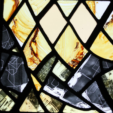 Fragments, stained glass panel, 2013