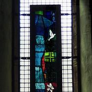 Millennium panel in situ, Dalbeattie Church, Dumfries and Galloway, 2001