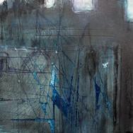Castle Study II, mixed media on paper, 20cm x 30cm