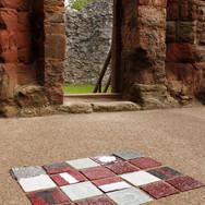Journey, temporary glass installation, Hailles Castle, East Lothian, 2013