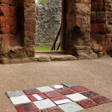 Journey, temporary glass installation, Hailles Castle, East Lothian, 2013