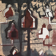 Community (detail), mixed media on paper