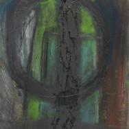 Untitled I, mixed media on card, 20 x 30cm (image credit Gordon Bell)