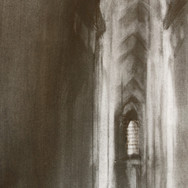 Cathedral Interior, graphite on paper, 18cm x 30cm