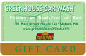 4. $25 Greenhouse Car Wash Gift Certificate