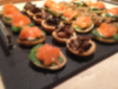 Salmon and Cheese Pinwheel Canapes