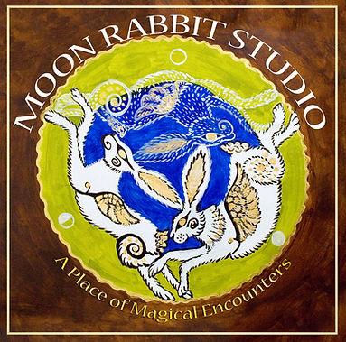 Logo 1 Moon Rabbit Studio gold border.jp