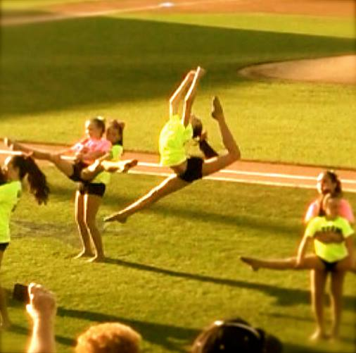 Beautiful leap by Kaitlyn!