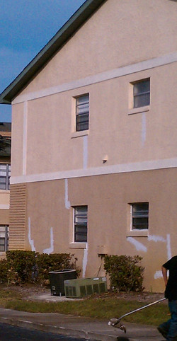 Stucco Crack HV Apartment