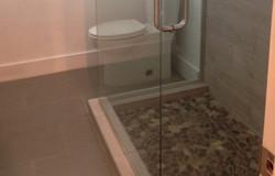 Beige Bath Floor