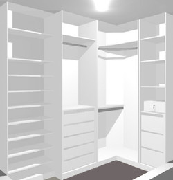Small Closet White 3D