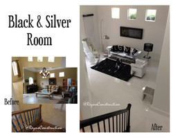 Black and silver room