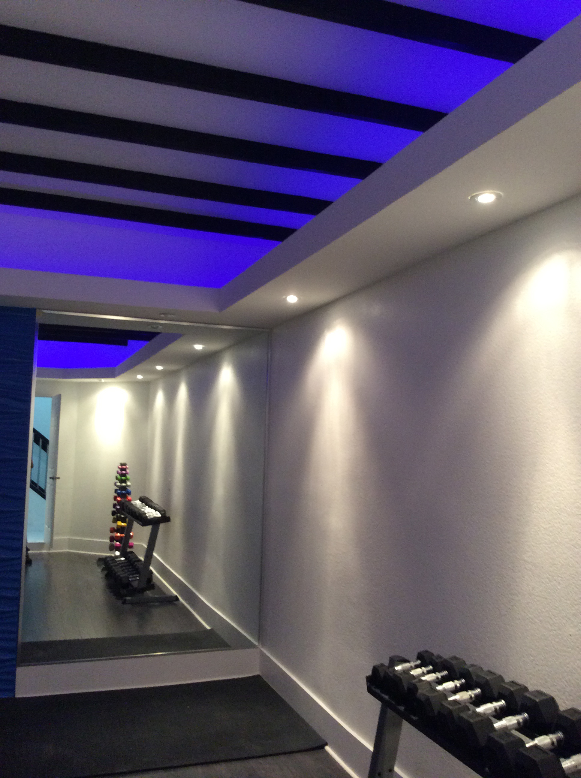 Color Lighting Gym Ceiling