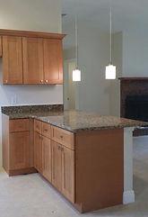 Shaker Cabinets Granite Countertop