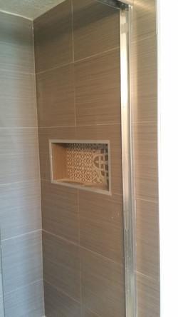 Modern Small Light Brown Bath