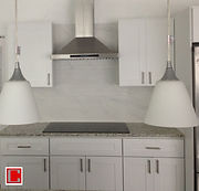 White Shaker Cabinets Granite Countertop