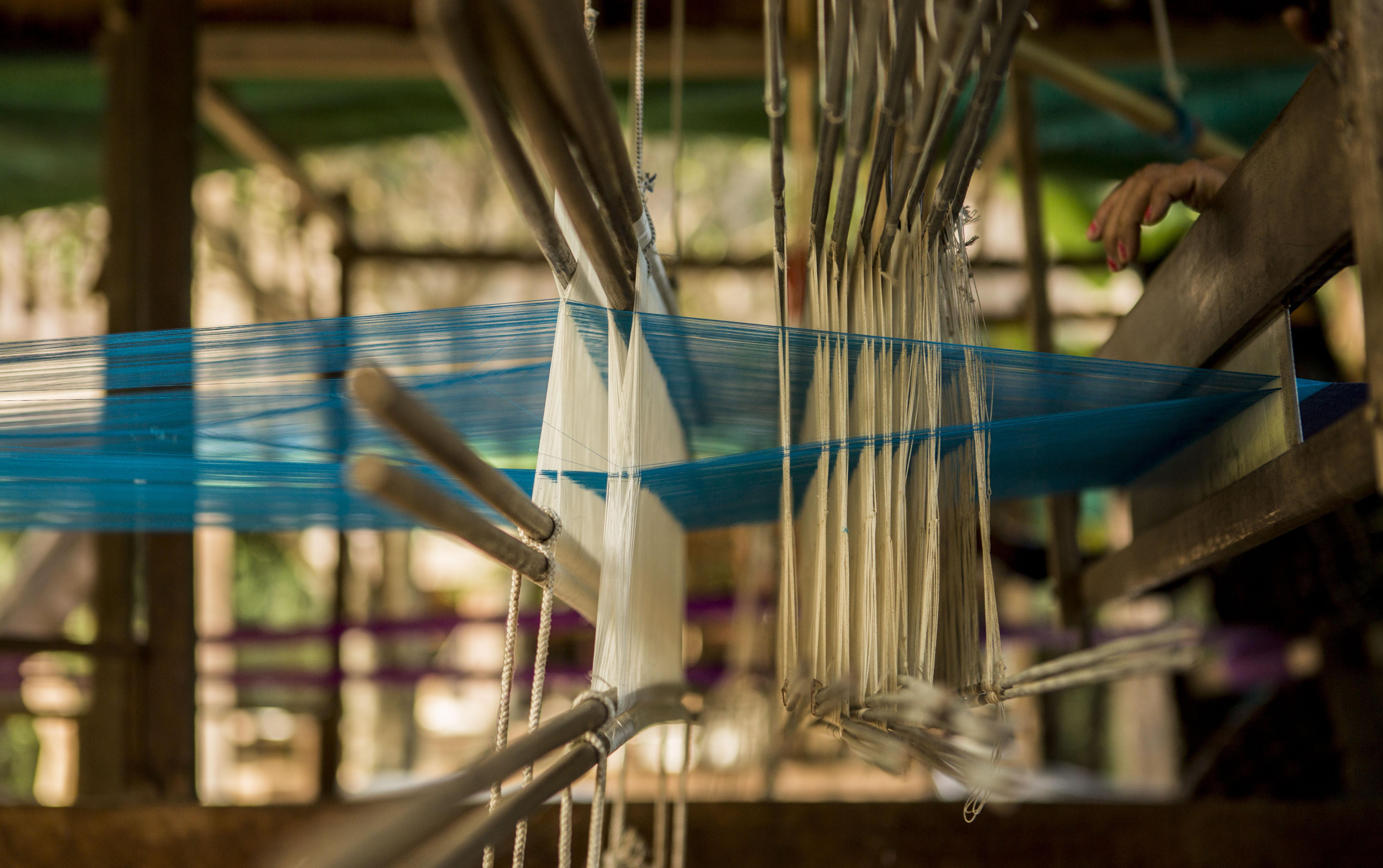 Weaving work