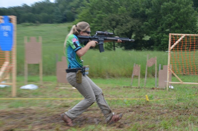 Firearms phenom Katie Francis in action