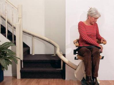 Monte-escaliers Handicare sur mesure