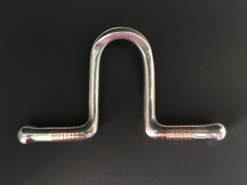 """015 Tall Spooned US 3 1/4"""" Tall with 1/2"""" Copper Inlaid Bars"""