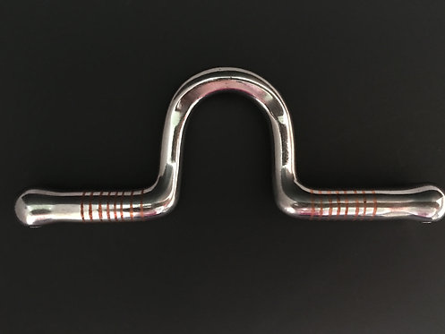 "070 Spooned US 3/8"" Port 2"" High with 1/2"" Copper Inlaid Bars"