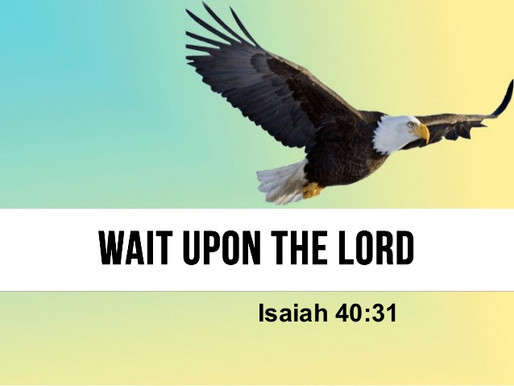 Still Waters: Wait Upon the Lord