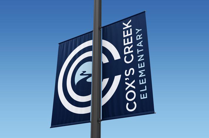 Cox's Creek Double Flag Design