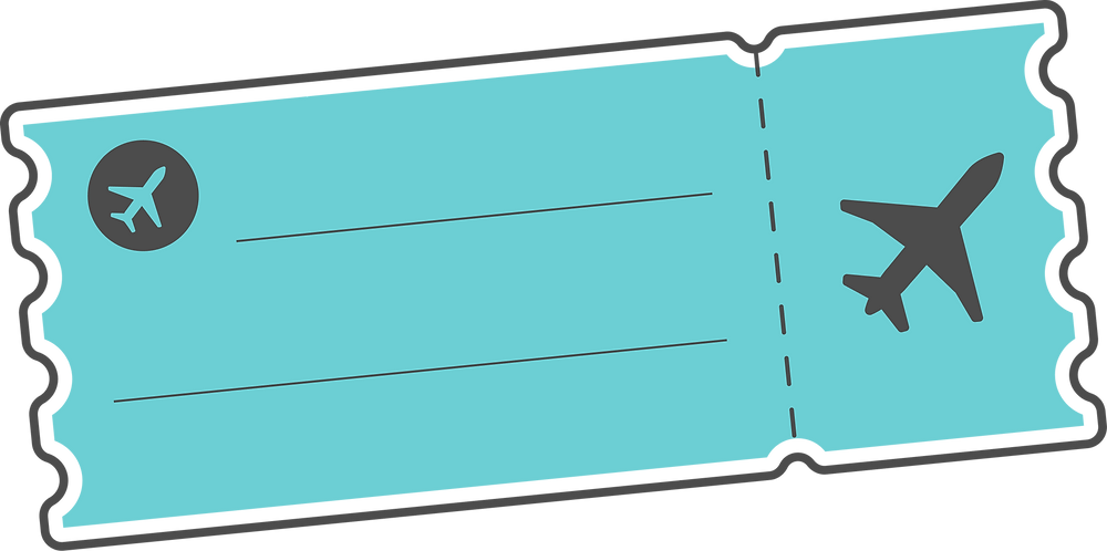 Graphic of a BookJane vacation airline ticket