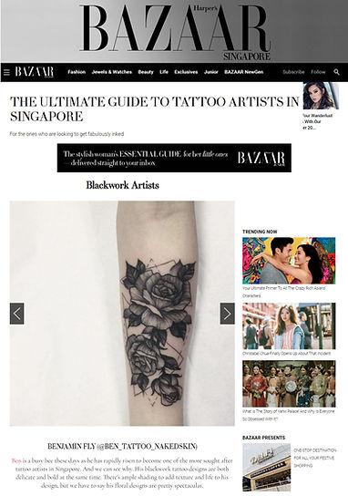 blackwork dotwork singapore sg tatto artist ben naked skin