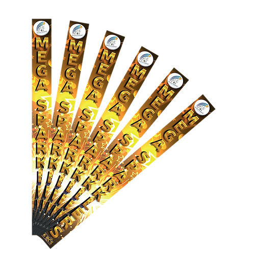 """18"""" Gold Sparklers 6pk by Absolute Fireworks"""
