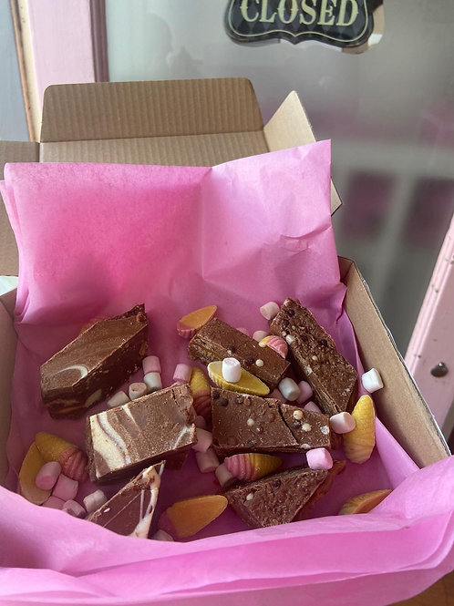 Mixed broken box with sweeties