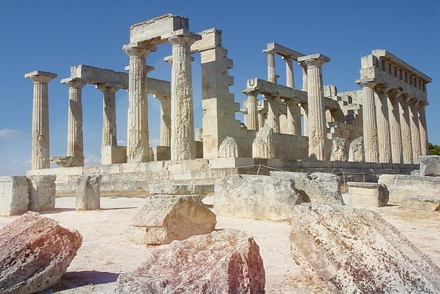 Der Tempel der Aphaia auf der Insel Ägina