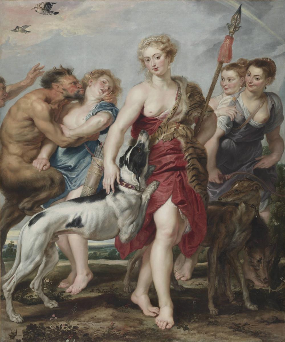 Rubens Artemis als Herrin der Tiere