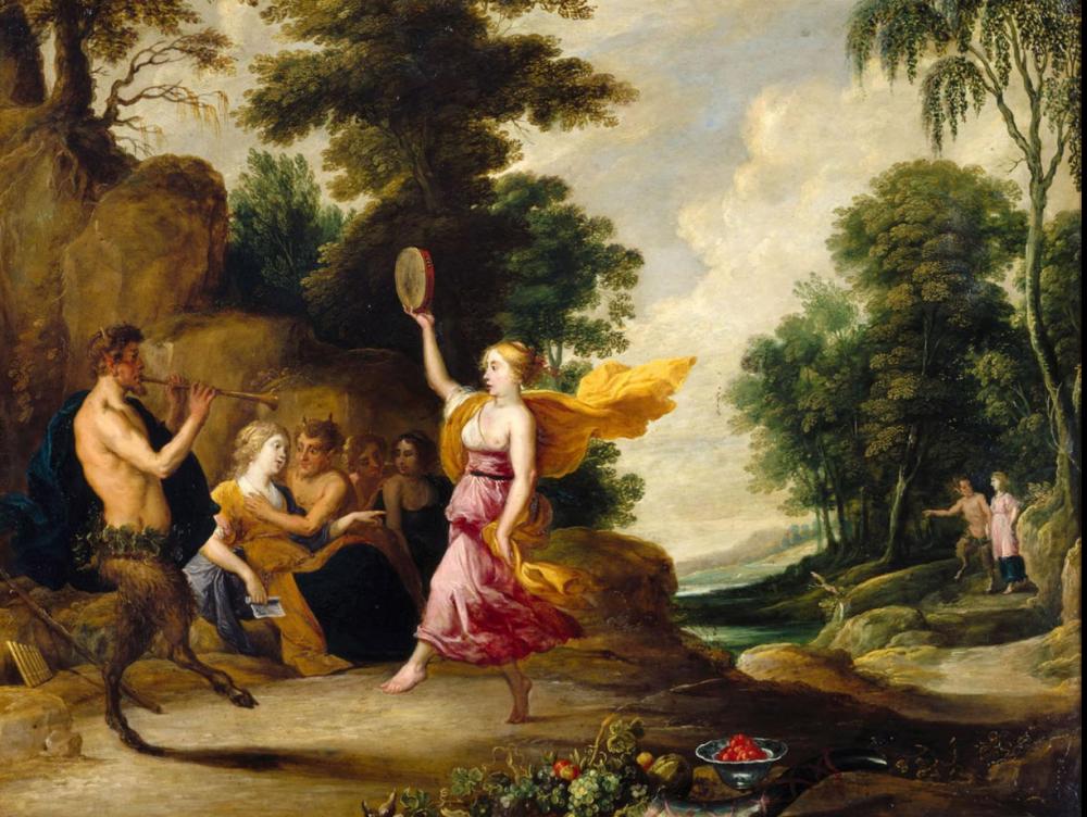 Pan und die Nymphen