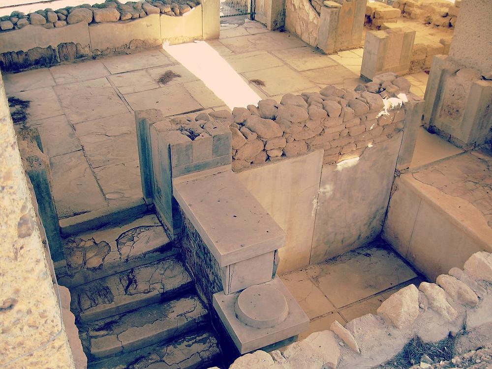 Detail aus der minoischen Palastanlage von Phaistos auf Kreta