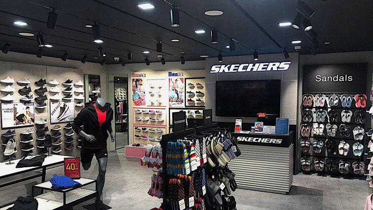 Lighting Up the Skechers store