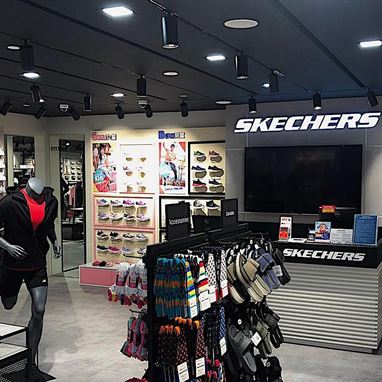 Lighting Up the Skechers store