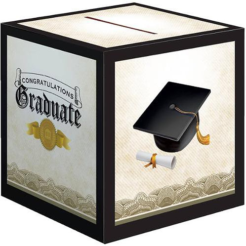 Cap and Gown Graduation Card Box