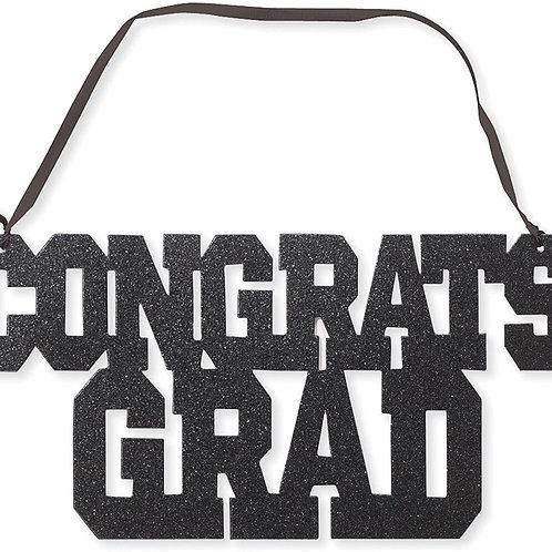 Congrats Grad Glitter Sign