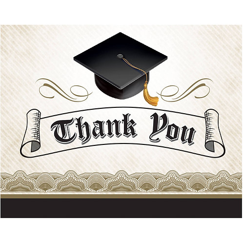 Cap and Gown Thank You Notes