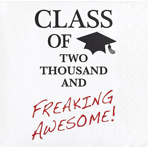 Class of Awesome Beverage Napkins