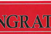 Red Congrats Grad! Banner
